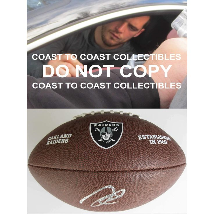 Derek Carr, Oakland Raiders, Signed, Autographed, NFL Raiders Logo Football, a COA with the Proof Photo of Derek Signing Will Be Included