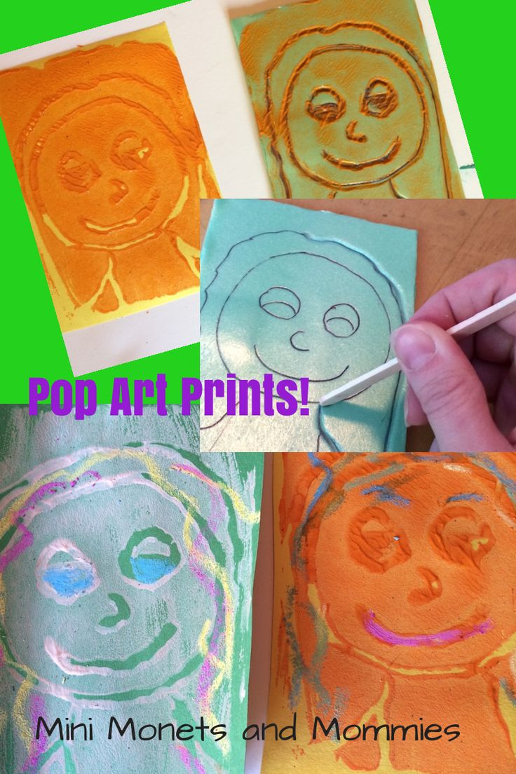 Kids' famous art activity. Make pop art prints and learn about Andy Warhol in this print-making art lesson.