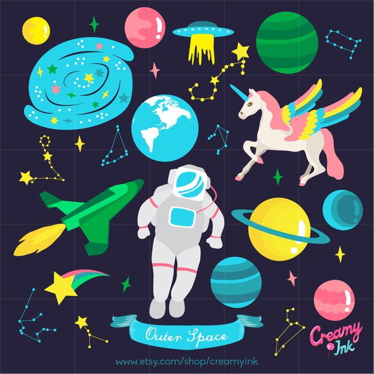 101 best images about creamyink diy with clip art on for Outer space design