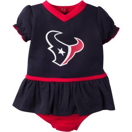 NFL Houston Texans Baby Girls Mesh Dazzle Dress and Panty Set, 2-Piece
