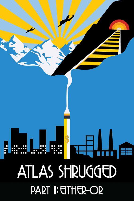 Atlas Shrugged Part 2 - 24x36 Poster Print on Etsy, $37.54