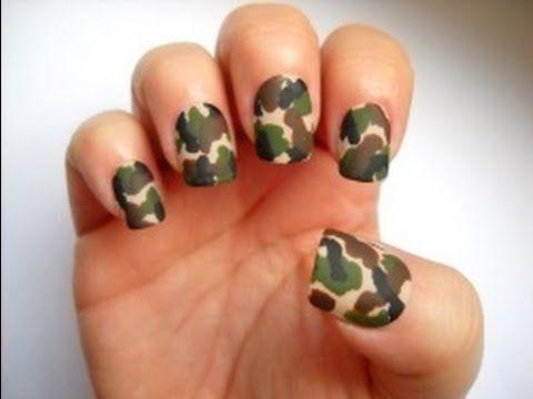 Camo Nails - YouTube - Best 25+ Camouflage Nails Ideas On Pinterest Camo Nail Art, Camo