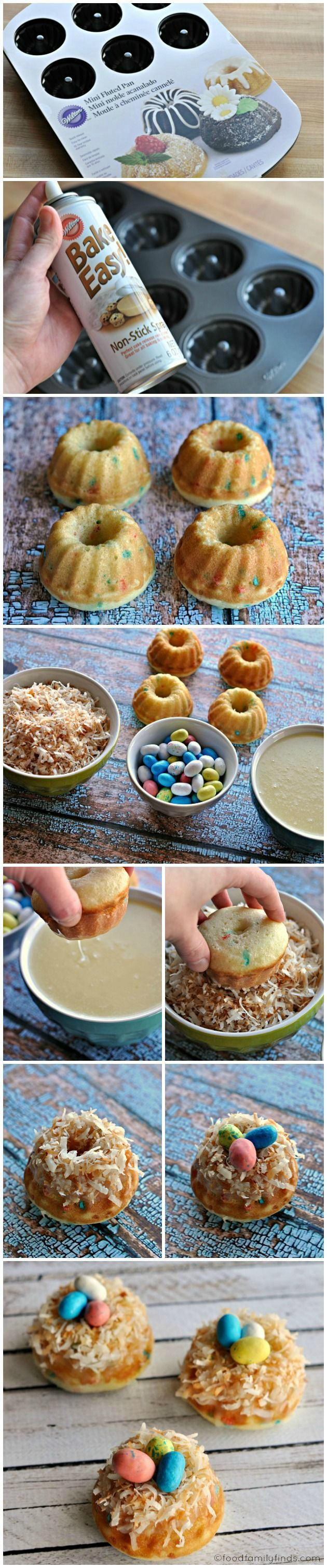 How to Make Birds Nest Baby Cakes for Easter