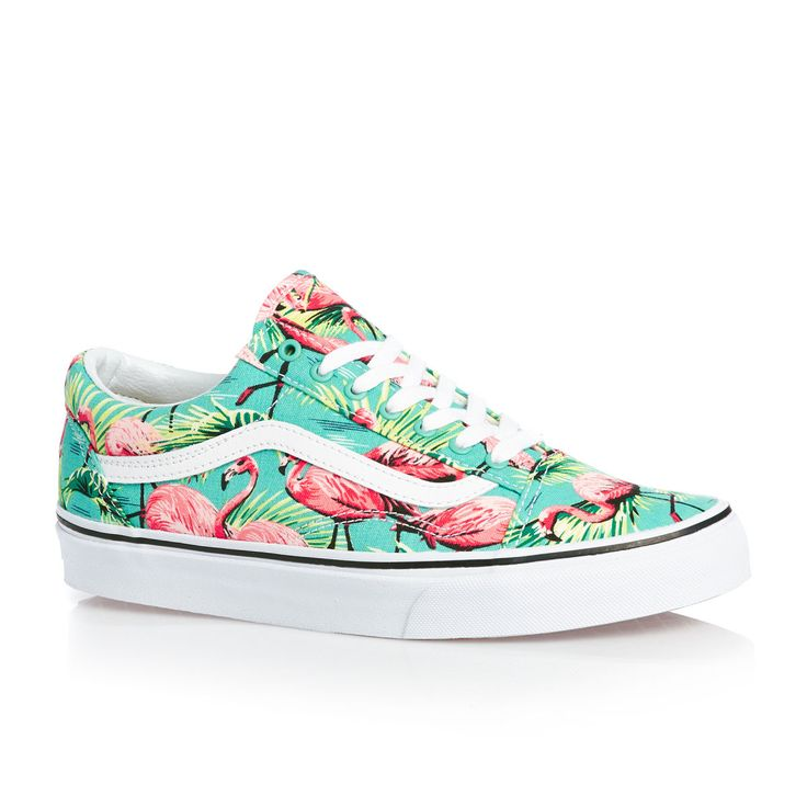 Vans Shoes - Vans Old Skool Shoes - (van Doren) Turquoise/flamingo