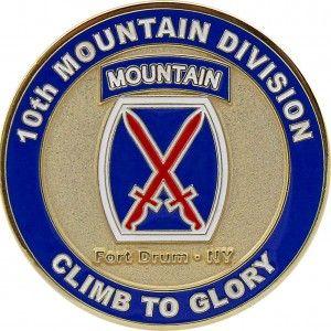 U.S. Army 10th Mountain Division Coin
