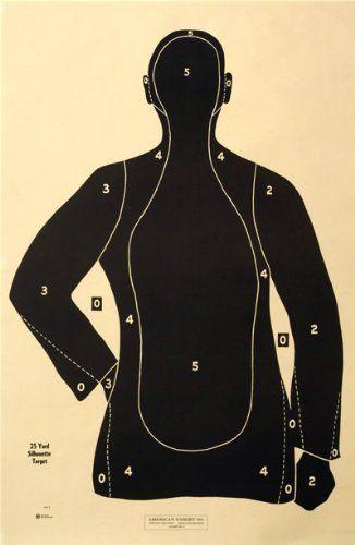 "(100x) Shooting Targets Law Enforcement Police Silhouette 23x35 25 yard B-21-E-BK by American. (100x) Shooting Targets Law Enforcement Police Silhouette 23x35 25 yard B-21-E-BK. 23""x35""."