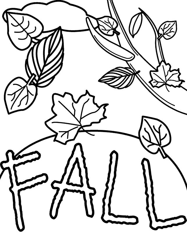 autumnfall harvest time thanksgiving coloring sheetsfall - Leaf Coloring Pages Preschool