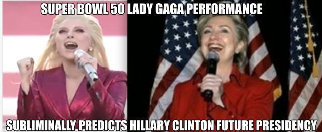 Lady Gaga Channels Hillary Clinton During National Anthem Performance NFL SUPER BOWL 50 – EXPOSEDNews