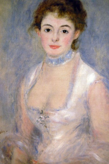 Pierre Auguste Renoir - Madame Henriot, 1876 (French Impressionist) at National Art Gallery Washington