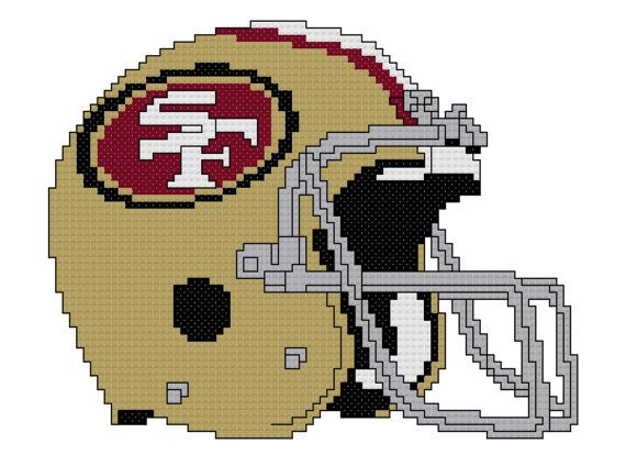 Counted Cross Stitch Pattern, San Francisco 49ers Gold Helmet, Instant Download, PDF Pattern, Hand Designed by Dreamy Memories on Etsy, $5.00