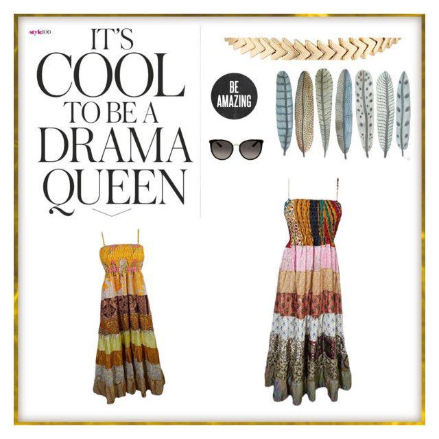 """Unique Fashion"" by boho-chic-2 ❤ liked on Polyvore featuring Gucci, Rebecca Minkoff, Emma Watson, Sounds Like Home, sundress, BeachDress and holidaydress"