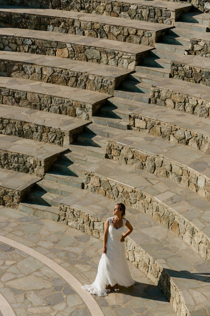 Give your wedding a Greek Theme, by posing at the spectacular stone built amphitheater at Mykonos Grand Luxury Resort
