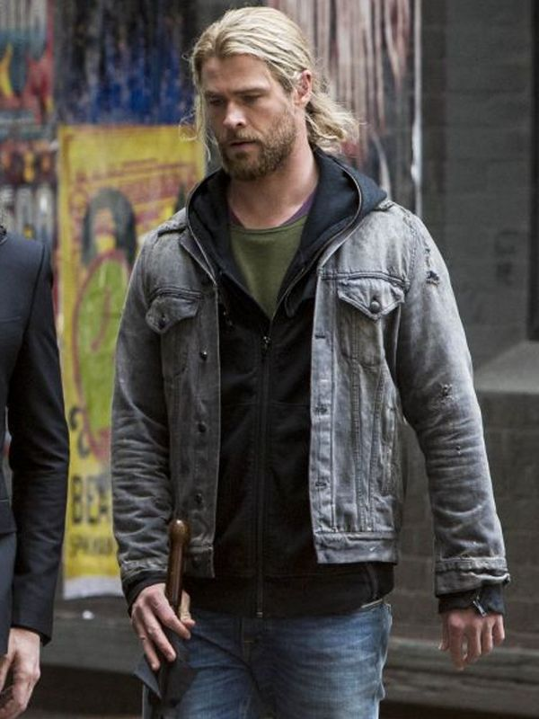 5fe70202692 Thor Ragnarok Chris Hemsworth Movie Jacket offers you the style of a hero  in the real life. You impress various people with your elegance at  different ...