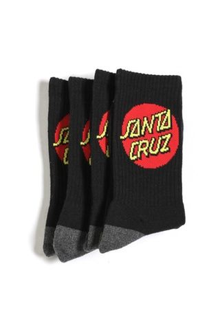 Santa Cruz Cruz Socks 4 Pack Black