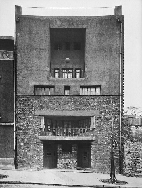 Adolf Loos, Tristan Tzara House, Paris, (1926) The modern-style house was built in 1926 by Austrian architect Adolf Loos for the poet  writer Tristan Tzara - opportunist, radical artist, activist, founder of the Cabaret Voltaire, enemy of the Surrealists, Romanian, and the founding father of Dadaism  and his wife, the painter, Knitson.