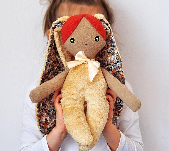 MINKY soft doll/ original LELUKO rag doll/ handmade by LelukoToys, $39.00