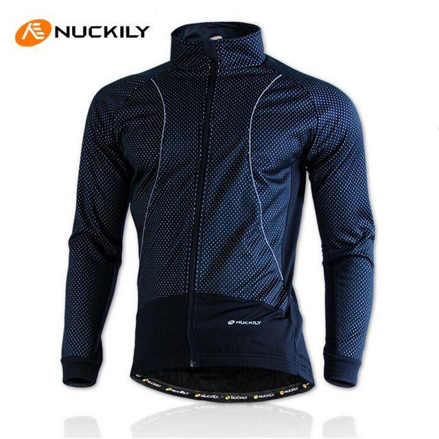 Nuckily invierno bicicleta clothing impermeable forro polar térmica ropa ciclismo chaqueta a prueba de viento de bicicletas bicicleta ciclismo chaqueta de los hombres