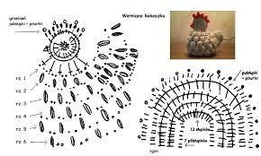 Znalezione obrazy dla zapytania kurki na szydełku wzór