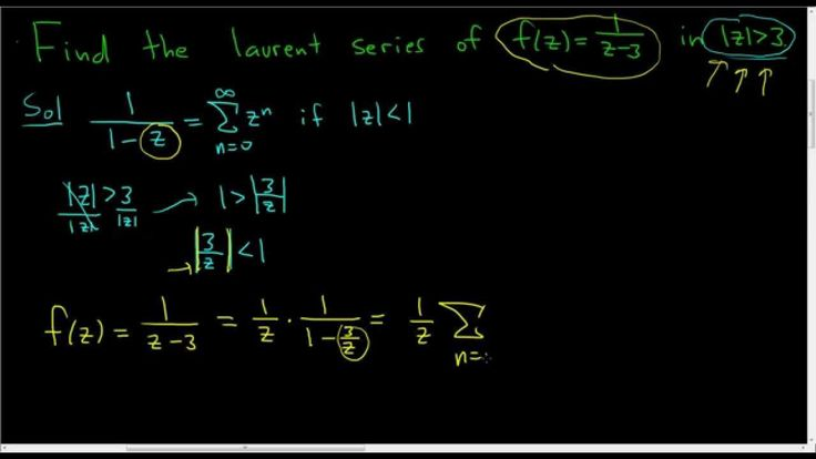 Laurent Series of f(z) = 1/(z - 3) in the Region |z| greater than 3