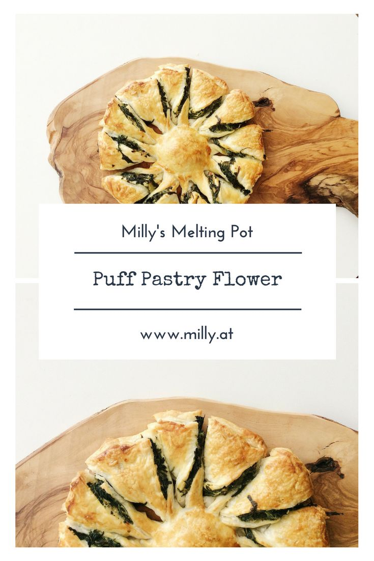 If anyone needs a new idea for green Thursday, I recommend this puff pastry flower! This crispy, buttery goodness is one of my favorites if you need a quick dish for unexpected guests. #recipe #easy #quick #puffpastry #spinach #ricotta