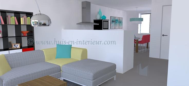 ibbA Almere - ontwerp 2 - aparte woonkamer, waarin je een royale zithoek kwijt kunt