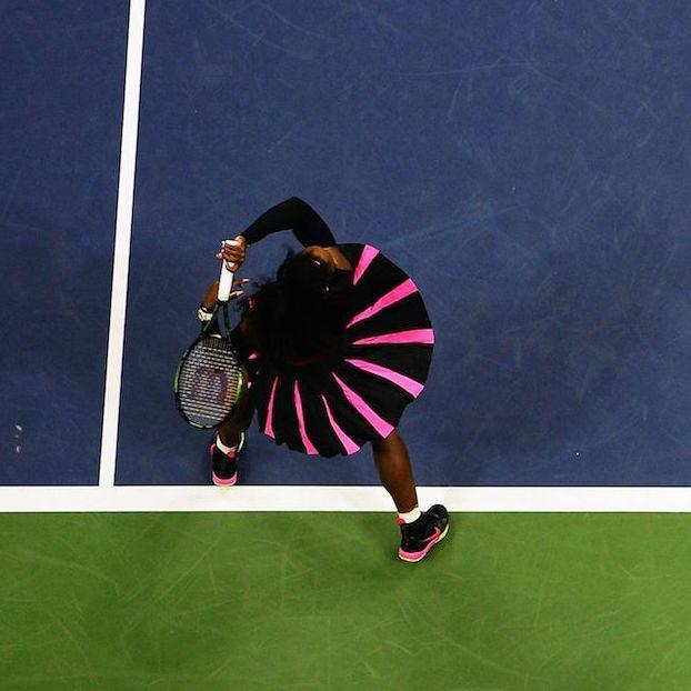 Serena #Williams dall'alto
