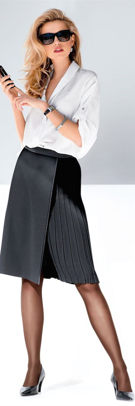 Madeleine Fall 2014 ● Madeleine Skirt and Silk Blouse