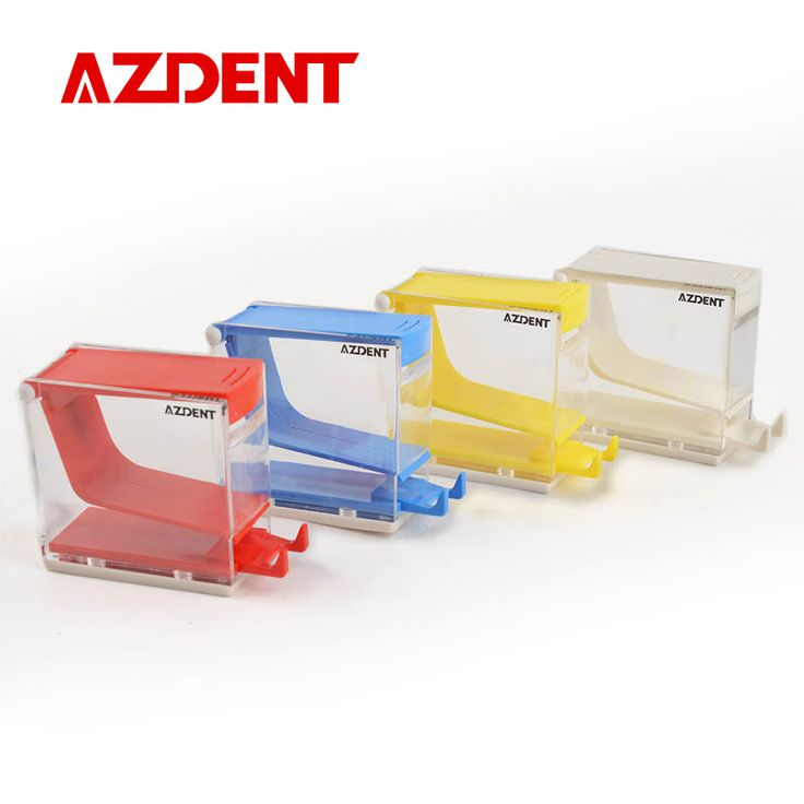 Hot Sale Pro Dental Products Storage Box Dentist Cotton Roll Dispenser Holder Press Type White Blue Red Yellow Color