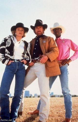 Chuck Norris, Clarence Gilyard Jr., Sheree J. Wilson in Walker, Texas Ranger