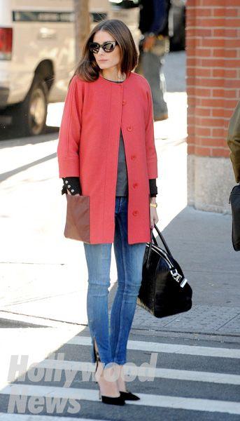オリヴィア・パレルモ、きれい色コートをコーディネートの主役に! - Infoseek ニュース