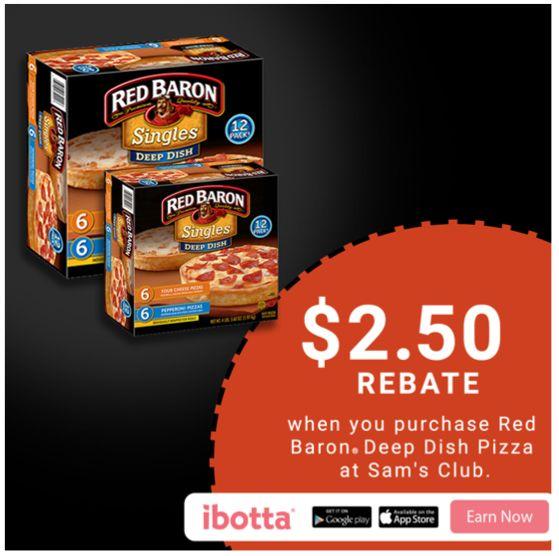 Make Life Easier this Holiday with a Red Baron® Deep Dish Single Serve Pizza Ibotta offer from Sam's Club!  #RedBaronHolidaySavings #CollectiveBias #ad