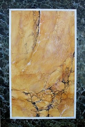 A stallaert peintre decorateur imitation de marbres et de bois jaune de sienne champs vert empire copie 2