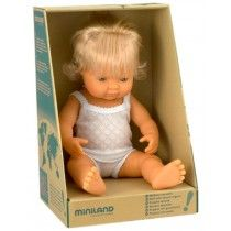 Miniland - Doll Caucasian Girl 38cm Boxed  Miss 2 loves to look after her baby dolls - this one is so cute, she would love her!  #EntropyWishList #PinToWin