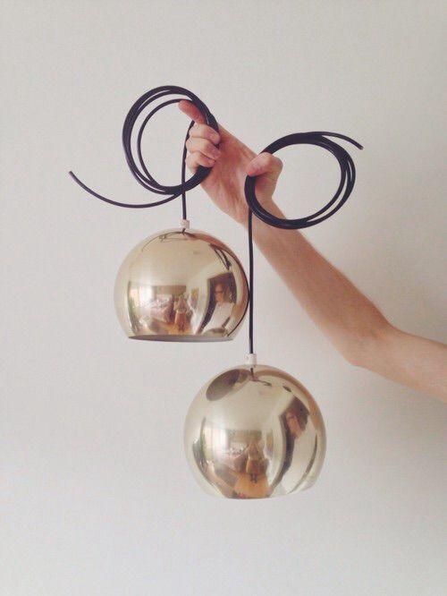 Золотые лампы, 1970-е, Швеция в магазине «Retra Design» на Ламбада-маркете