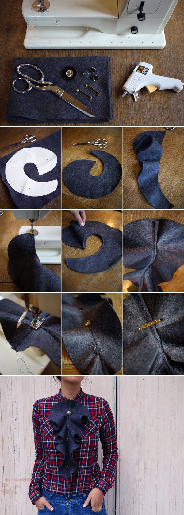 how to sew a frilled collar