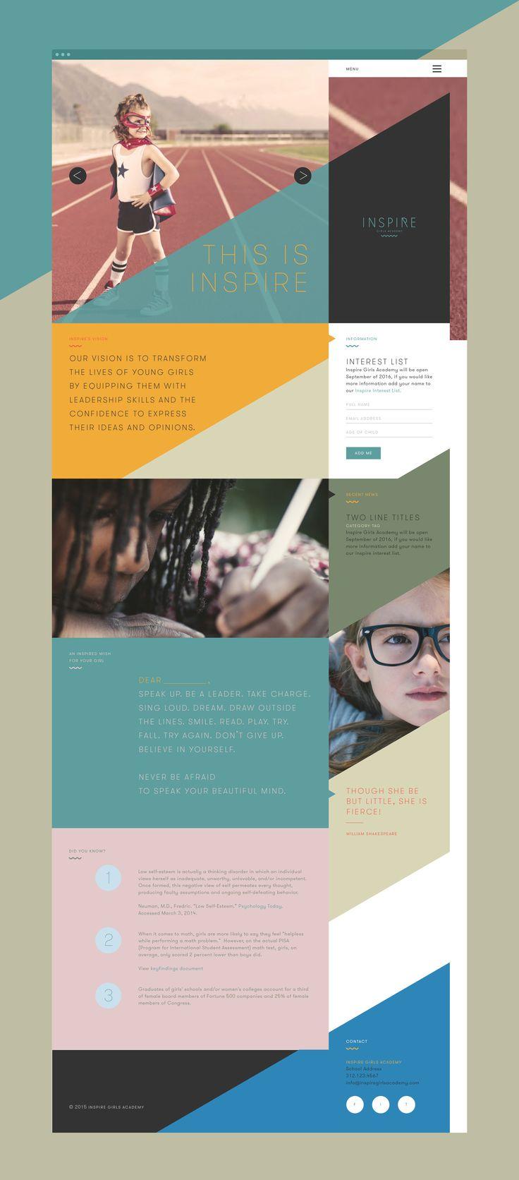 Inspire Girls Academy Website Homepage