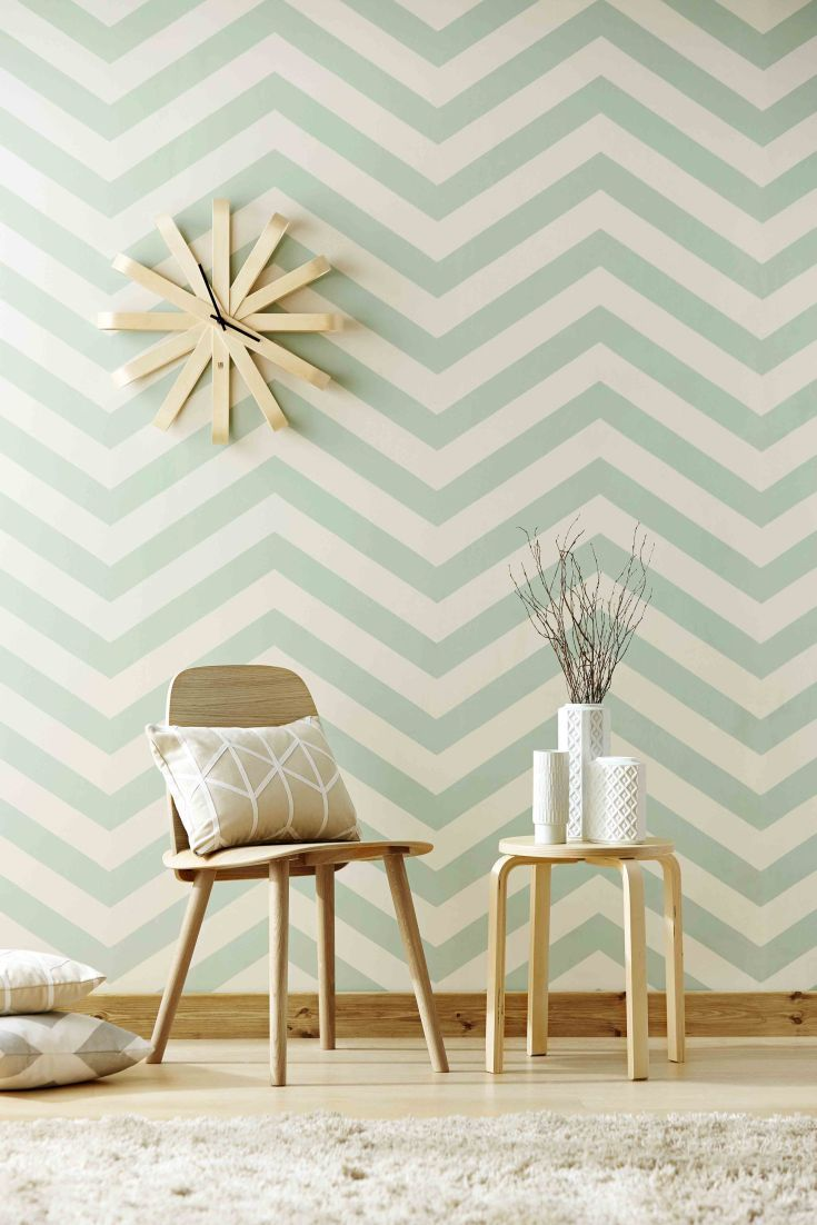 Lovely chevron wallpaper design.