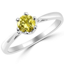 Fancy Canary Yellow Diamond Solitaire Engagement Ring