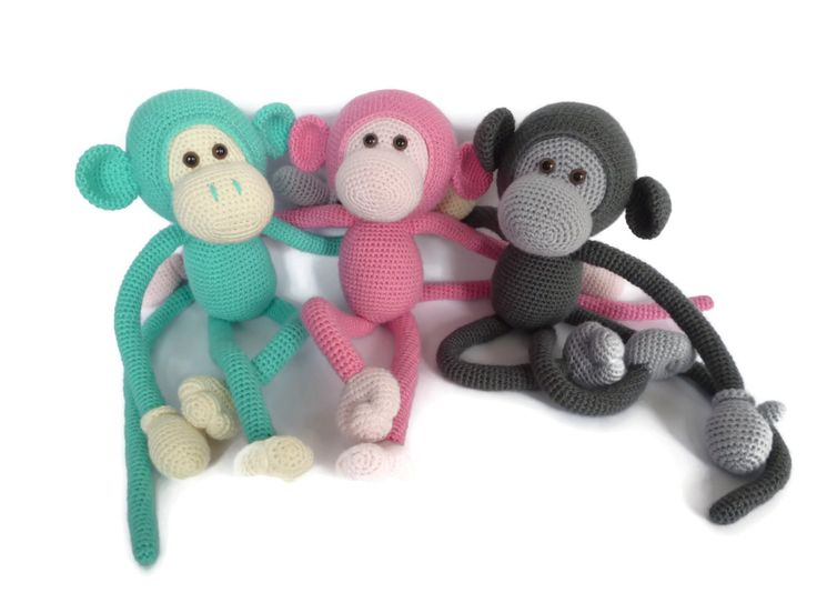Mike the Monkey Amigurumi Crochet pdf Pattern EN DK & NL