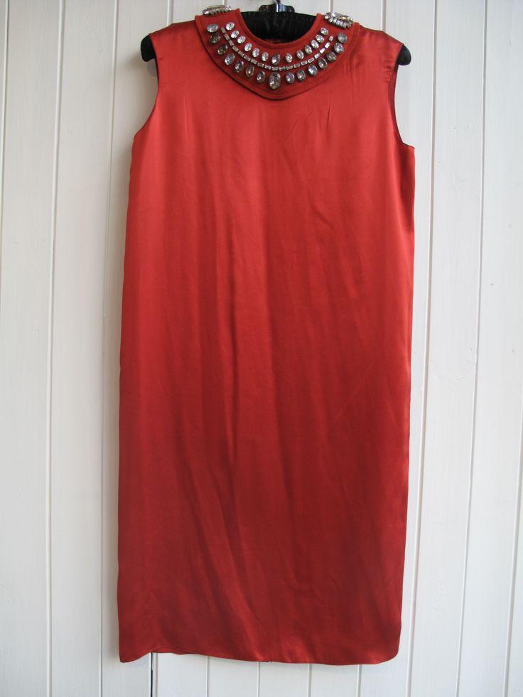 Beautiful Lanvin red silk dress size 10 E4/23 #lanvin #partydress #designerdress #wowdress