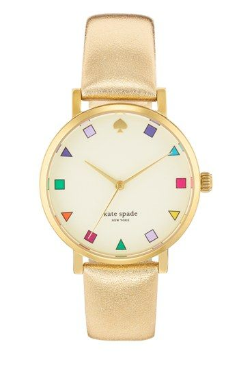 kate spade new york 'metro patchwork' leather strap watch, 34mm available at #Nordstrom