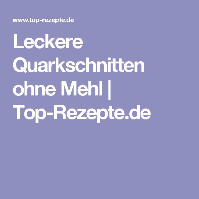 Leckere Quarkschnitten ohne Mehl | Top-Rezepte.de