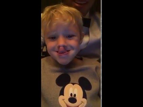 Birthday Boy Neymar Snapchats from the Gym hanging out with son Davi Lucca (Video)