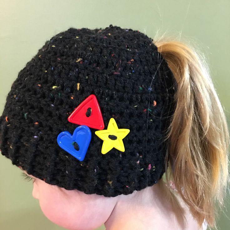 A personal favorite from my Etsy shop https://www.etsy.com/ca/listing/500007328/child-pony-tail-hat
