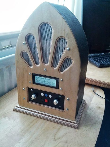 Picture of Google Play Music Internet Radio (Raspberry Pi and Arduino). May make something like this if I had the time and money.