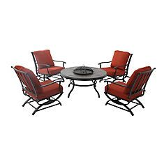 Redwood Valley 5-Piece Fire Pit Seating Set