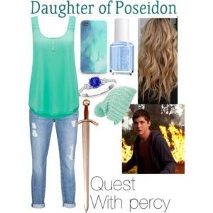 daughter of poseidon outfits, quest with percy jackson