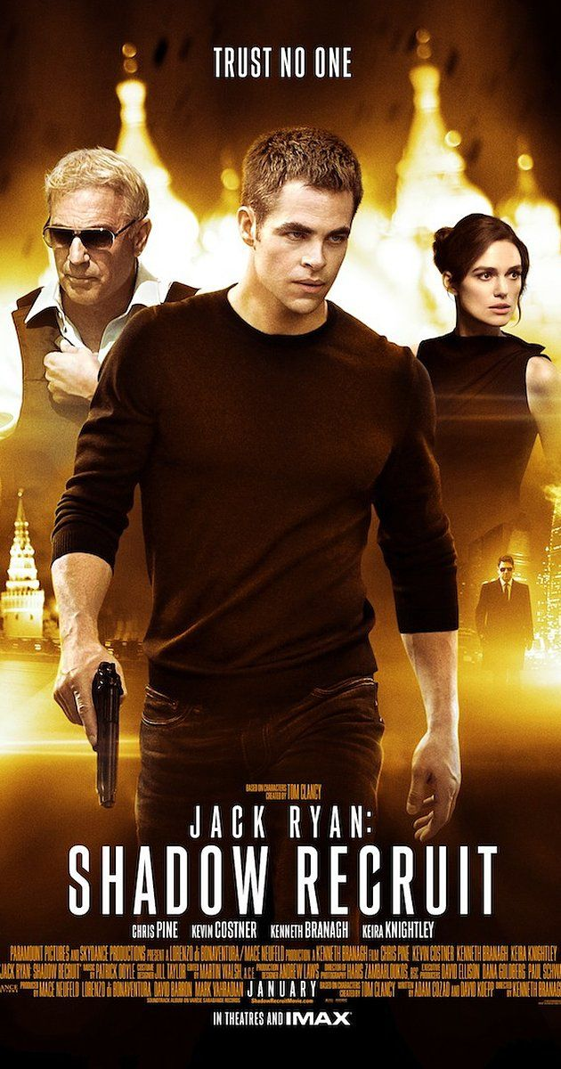 Directed by Kenneth Branagh.  With Chris Pine, Kevin Costner, Keira Knightley, Kenneth Branagh. Jack Ryan, as a young covert CIA analyst, uncovers a Russian plot to crash the U.S. economy with a terrorist attack.