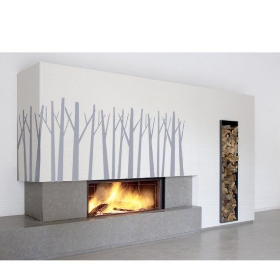 Love the fireplace! Different trees though