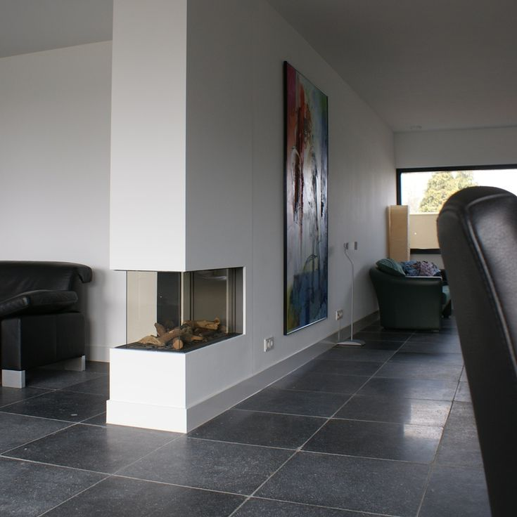Roomdivider in een moderne setting